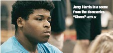 """?? NETFLIX ?? Jerry Harris in a scene from the docuseries """"Cheer."""""""