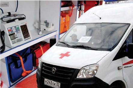 ??  ?? Новые «скорые» оснащены всем необходимым медоборудованием.