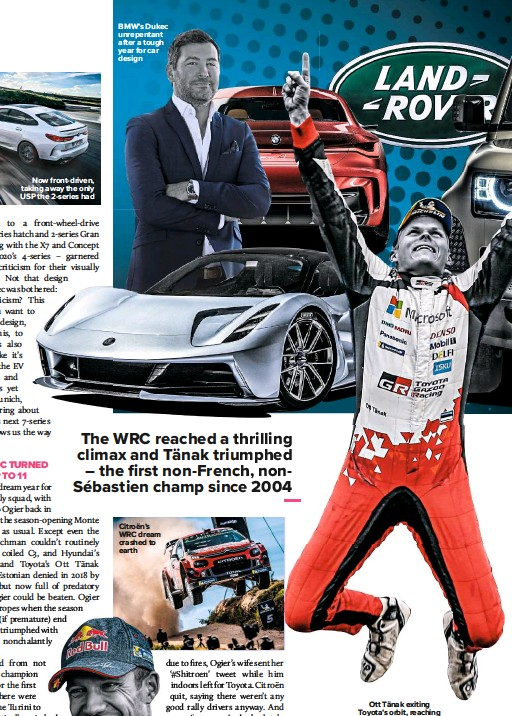 ??  ?? Now front-driven, taking away the only USP the 2-series had Citroën's WRC dream crashed to earth