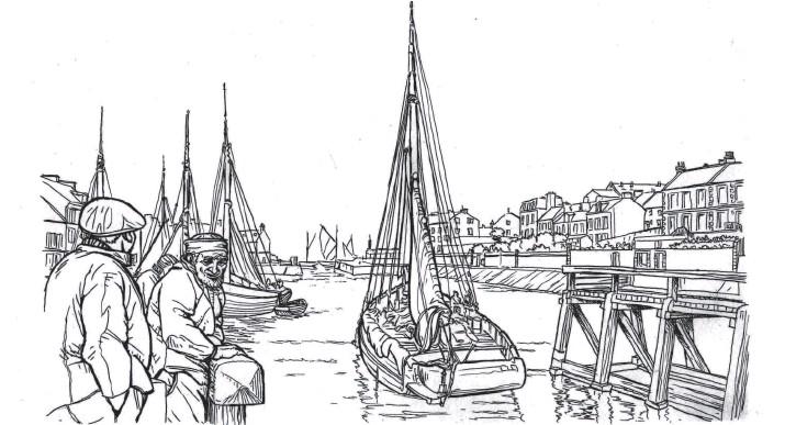 ??  ?? Port-en-bessin, sortie des barques de pêche