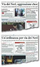 ??  ?? Il 20 agosto l'aggressione in via Dei Neri ai danni di un commerciante da parte di tre turisti spagnoli che bivaccavano sul marciapiede Il giorno dopo l'annuncio di Palazzo Vecchio
