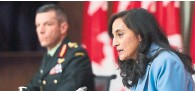 ?? SEAN KILPATRICK THE CANADIAN PRESS FILE PHOTO ?? Maj.-Gen. Dany Fortin, left, and Anita Anand, minister of public services and procurement, say Canada remains on track for millions more doses.