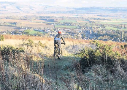 ??  ?? Pedal power Perthshire is an ideal destination for cyclists