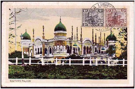 ??  ?? A rare postcard showing the sultan of Selangor's palace.