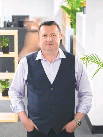 ?? Picture: Serena Findlay ?? Cashflow Manager chief executive Tim Millar.
