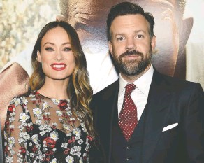??  ?? Olivia Wilde and Jason Sudeikis have ended their seven-year engagement and share custody of their children.