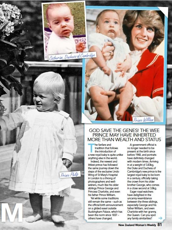 ??  ?? Catherine, Duchess of Cambridge Prince Philip Prince William