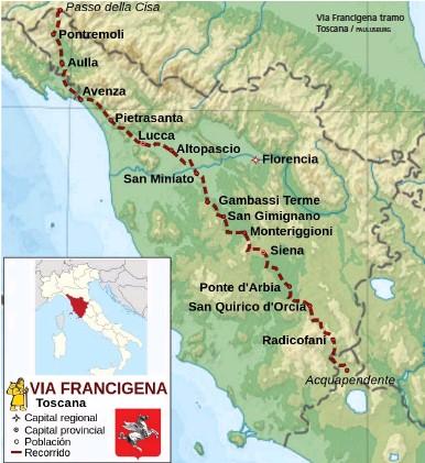 ?? PAULUSBURG ?? Via Francigena tramo Toscana /