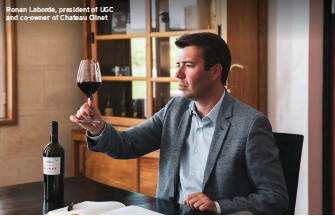 ??  ?? Ronan Laborde, president of UGC and co-owner of Chateau Clinet