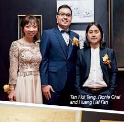??  ?? Tan Hui Teng, Richie Chai and Huang Hai Fan