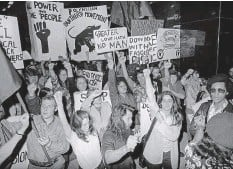 ?? Photo / Supplied ?? Demonstrators march to protest the Dawn Raids.