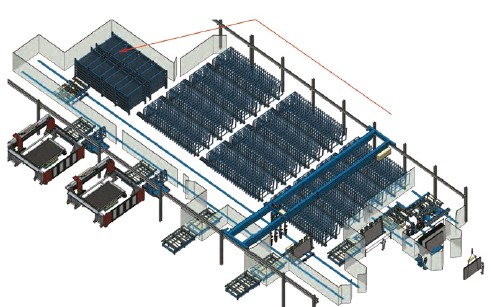 ??  ?? • • 104 Kapasite 104 elements/positions bölme Capacity • 1360 plaka (20mm) 1360 slabs (20mm) • 160 m² alan Occupied space on the floor: 160m² • 8,5 plaka/m² 8,5 slabs/m2