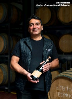 ??  ?? Simon Roberts, director of winemaking at Ridgeview