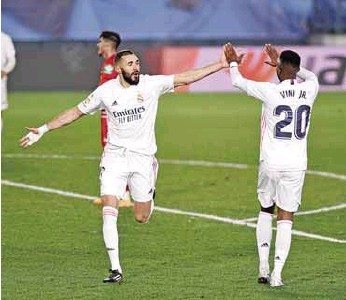 ?? GETTY IMAGES ?? Nivel. Los argumentos futbolísticos del Real Madrid cada vez son más certeros.