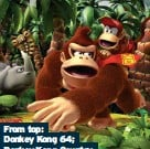 ??  ?? From top: Donkey Kong 64; Donkey Kong Country Returns, and Donkey Kong Country: Tropical Freeze