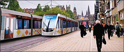 ??  ?? VISION OF THE FUTURE: An artist's impression of how Edinburgh's new tram system will look.