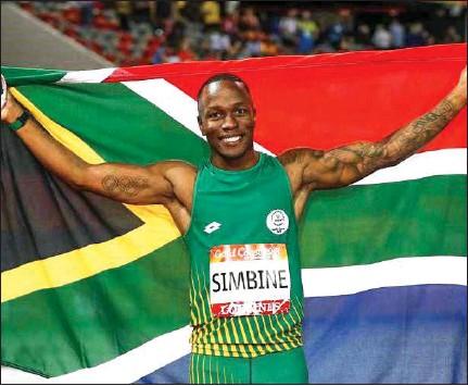 ??  ?? Top SA relay runner, Akani Simbine