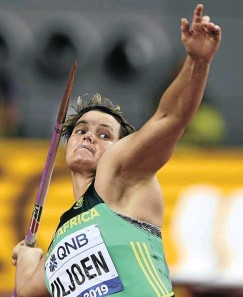 ??  ?? Sunette Viljoen, who last threw 64m in 2016, says she's still enjoying athletics.
