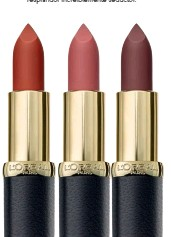 ??  ?? ¿CUÁNTOS MATICES CABEN EN UN ROJO DE LABIOS? El maquillaje de los labios a medida. Rubias, morenas, castañas... pieles claras u oscuras. Para cada una de ellas existe el tono perfecto de Color Riche Mate, de L'Oréal Paris, que sublimará la belleza natural de tus labios con un resplandor increíblemente seductor.