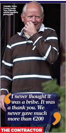 ??  ?? thank you: Former hurler Tony Kilkenny admits regularly giving gifts