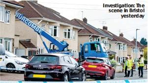 ??  ?? Investigation: The scene in Bristol yesterday