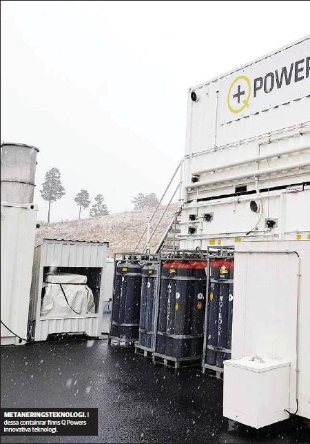 ??  ?? METANERINGSTEKNOLOGI. I dessa containrar finns Q Powers innovativa teknologi.