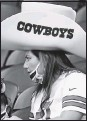 ?? THE ASSOCIATED PRESS ?? Cowboys fans have been allowed to attend home games in steadily increasing numbers during the pandemic.