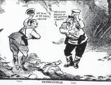 Karikatur hitler stalin pakt Molotov