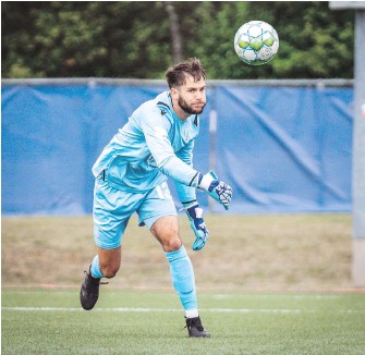 ?? TRISHA LEES, PACIFIC FC ?? Goalkeeper Callum Irving is among players who re-signed for Pacific FC on Friday.