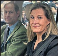 ??  ?? Prince Edward and his wife Sophie