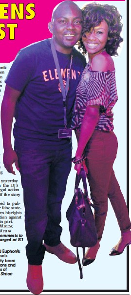 ?? Picture by Si­mon Mathe­bula ?? IN HAP­PIER TIMES: DJ Eu­phonik and Bo­nang Matheba's re­la­tion­ship has lately been marred by ac­cu­sa­tions and counter-ac­cu­sa­tions of in­fi­delity.