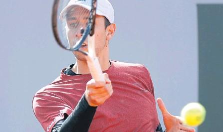 ?? EFE ?? El colombiano Daniel Galán sigue confirmando que es una de las grandes estrellas del tenis local y puede entregar enormes alegrías.