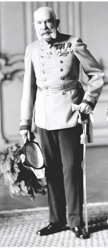??  ?? War laut Tagebuch seines Adjutanten lange in guter gesundheitlicher Verfassung: Kaiser Franz Joseph I.