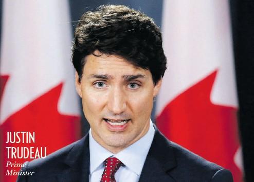 ?? PATRICK DOYLE / THE CANADIAN PRESS ?? JUSTIN TRUDEAU Prime Minister