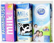 ??  ?? Safe to glug: UHT milk is packed aseptically into the sevenlayered Swedishpatented Tetra Pak to maintain its long shelf life.