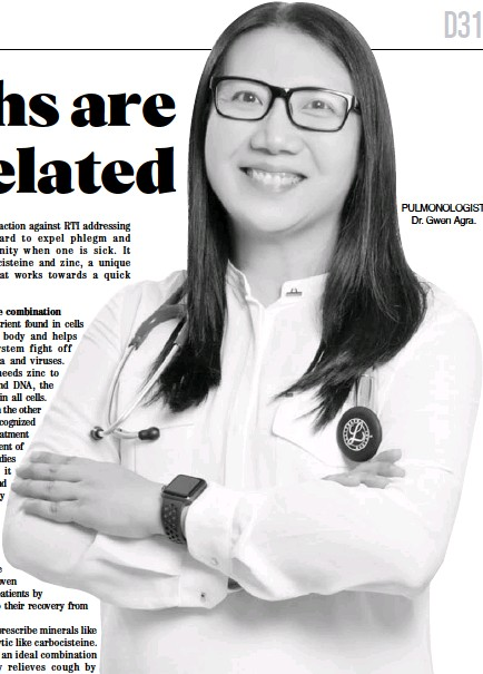 ??  ?? PULMONOLOGIST Dr. Gwen Agra.