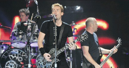?? IAN LINDSAY/PNG STAFF ?? Nickelback's upcoming world tour will include a stop Feb. 17 at Canadian Tire Centre.