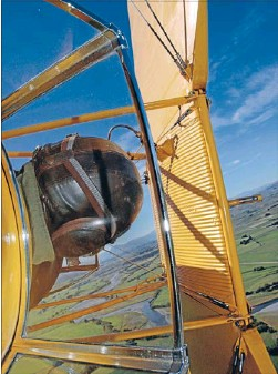 ?? Photo: GLENN ARMSTRONG ?? No problem: Ryan Southam is an expert aerobatics pilot.