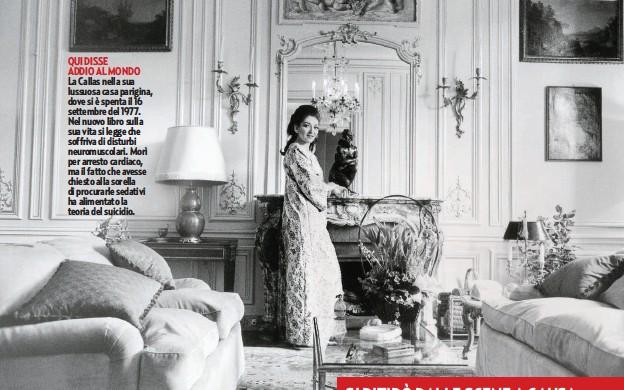 ??  ?? QUI DISSE ADDIO AL MONDO La Callas nella sua lussuosa casa parigina, dove si è spenta il 16 settembre del 1977. Nel nuovo libro sulla sua vita si legge che soffriva di disturbi neuromuscolari. Morì per arresto cardiaco, ma il fatto che avesse chiesto alla sorella di procurarle sedativi ha alimentato la teoria del suicidio.