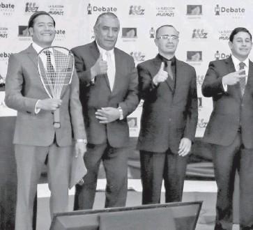 ?? /CORTESÍA IEEZ ?? El debate de las candidatas y candidatos a presidente municipal de Zacatecas, fue organizado por el Instituto Electoral.
