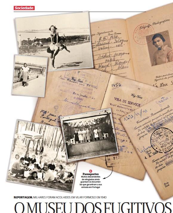??  ?? Passaportes Muitos descendentes de refugiados ainda guardam os documentos que garantiram a sua entrada em Portugal