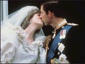?? PICTURES: AP ?? Britain's Prince Charles kisses his bride, Diana, on their wedding day on July 29, 1981.