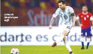 ??  ?? Le but de Messi n'a pas suffi