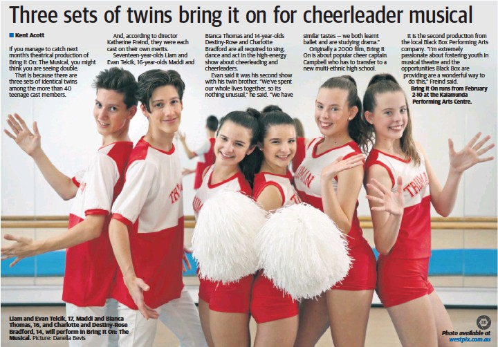 Three Sets Of Twins Bring It On For Cheerleader Musical Pressreader