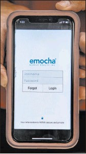 ?? Las Vegas Review-journal ?? L.E. Baskow The Clark County Education Association and the Teachers Health Trust use the emocha phone app for their COVID-19 testing program.