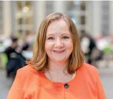 ?? FOTO: PRESSBILD HANDELSHÖGSKOLAN ?? FORSKARE. Lena Lid Falkman menar att pandemin har skyndat på utvecklingen mot flexibla kontorsytor.