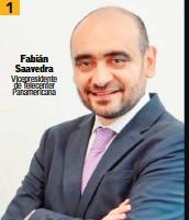 ??  ?? Fabián Saavedra Vicepresidente de Telecenter Panamericana 1