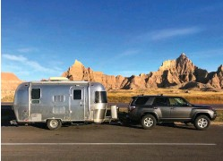 ??  ?? I towed my Airstream to Badlands National Park in the Fall of 2020, where I was able to stay productive even in harsh environmen­ts.