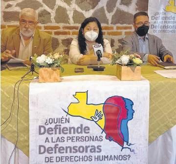 ??  ?? Campaña. Las oenegés han hecho una campaña para la respaldar a los defensores de derechos.