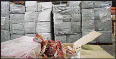 ??  ?? Parcels of tobacco seized by the customs.